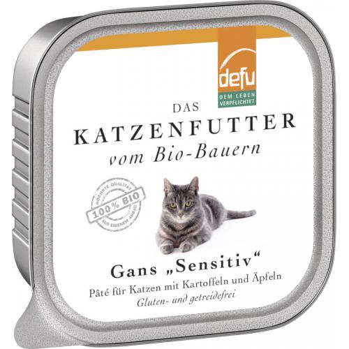 Bio Katzen-Alleinfutter Paté Gans 100g