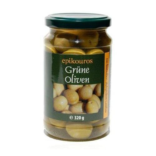 Grüne Griechische Oliven mit Stein