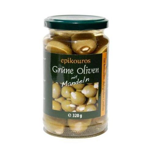 Grüne Griechische Oliven mit Mandeln