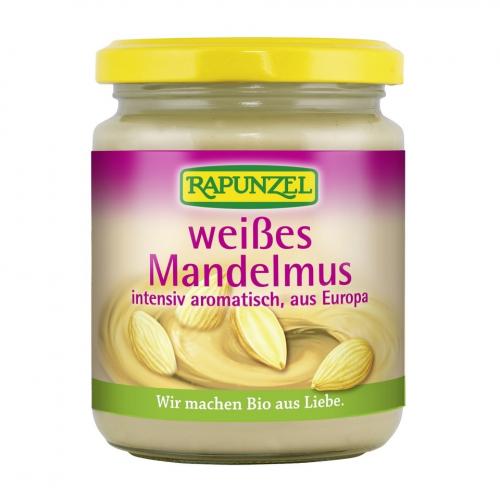 Mandelmuss weiss intensiv aromatisch, aus Europa Glas 250 g - Rapunzel