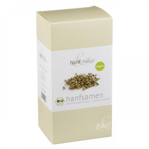 Hanfsamen ungeschält Pack 500 g - Hanf & Natur