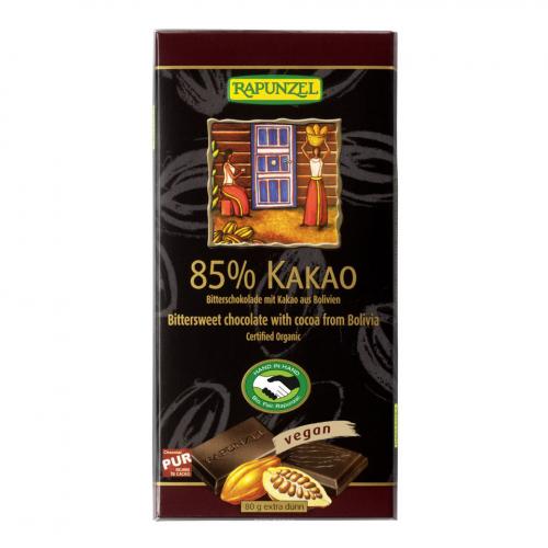 Schokolade 85% Bitter Tafel 80 g - Rapunzel