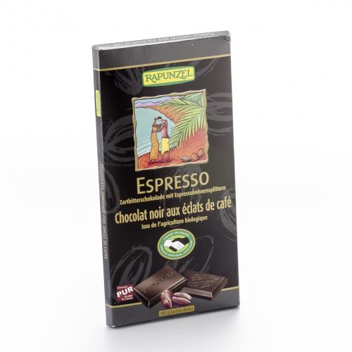 Schokolade 51% Espresso Zartbitter Tafel 80 g - Rapunzel