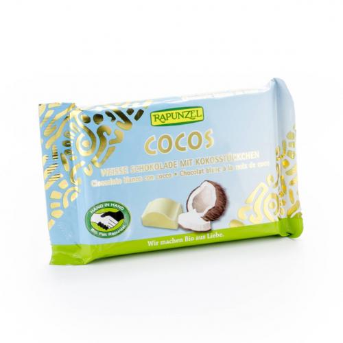 Schokolade Cristallino weiss mit Kokos Tafel 100 g - Rapunzel
