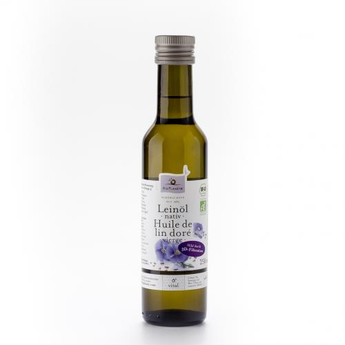 Leinöl nativ Flasche 250 ml/Glas Einweg - Bio Planète