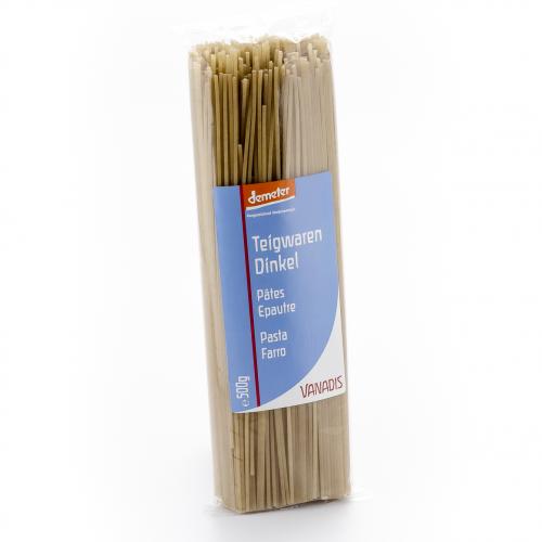 Spaghetti Dinkel Beutel 500 g - Vanadis
