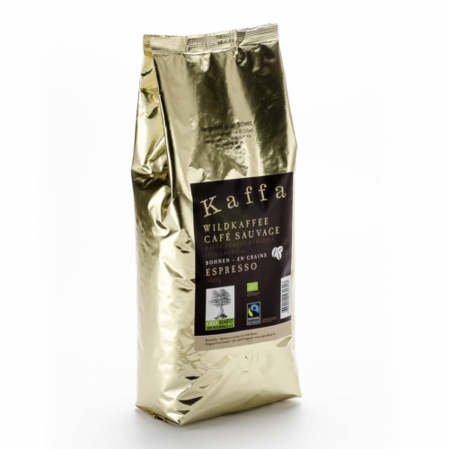 Wildkaffee Kaffa Espresso Bohnen Beutel 1 kg - Original Food