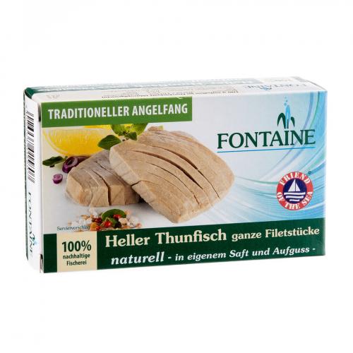 Thunfisch hell naturell Dose 120 g - Fontaine