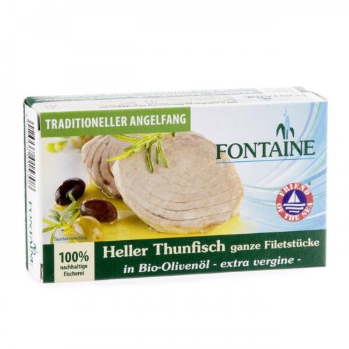 Thunfisch hell in Olivenöl extra vergine Dose 120 g - Fontaine