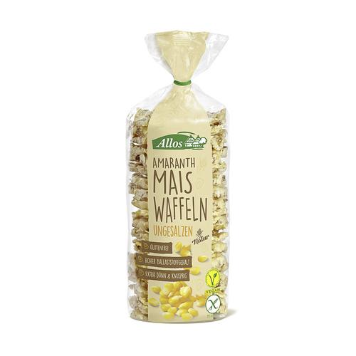 Amaranth Mais-Waffeln ungesalzen Beutel 100 g - Allos