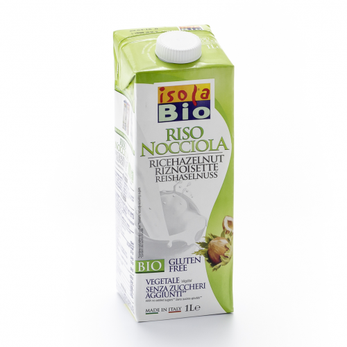 Haselnuss Reis Drink Tetrapak 1 l - Isola Bio