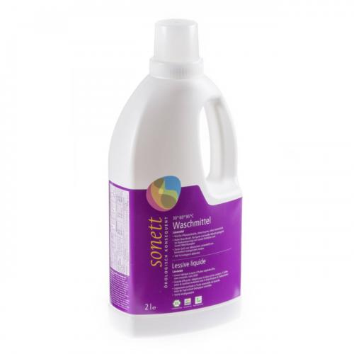 Waschmittel flüssig 30° - 95°C Lavendel Flasche 2 l/PET Einweg - Sonett