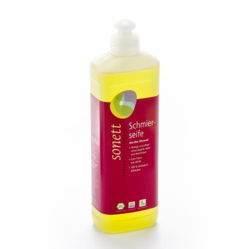 Schmierseife flüssig Flasche 500 ml/Plastik Einweg - Sonett
