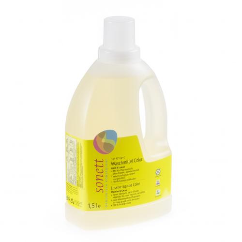 Waschmittel Color 30° 40° 60°C Mint Lemon flüssig Flasche 1.5 l/PET Einweg - Sonett