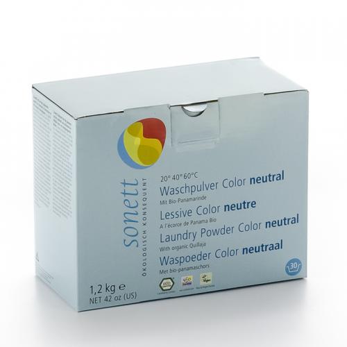 Waschpulver Color sensitiv 20° 40° 60° Pack 1.2 kg - Sonett