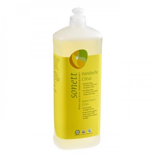 Handseife Citrus, Nachfüllflasche Flasche 1 l/Plastik Einweg - Sonett