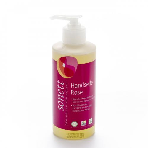 Handseife Rose, Pumpspender Flasche 300 ml/Plastik Einweg - Sonett