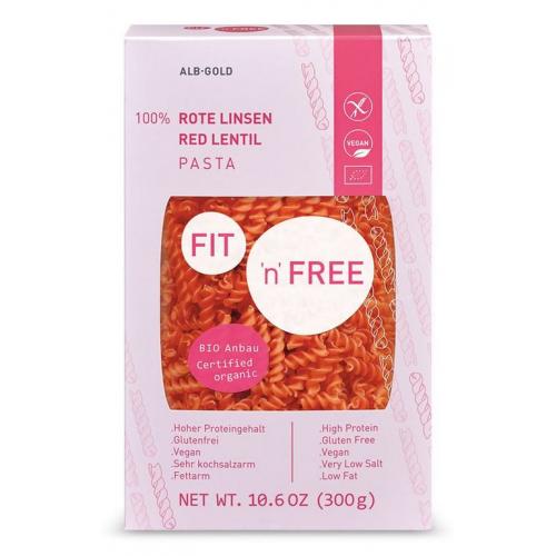 Fit n Free Bio Pasta Rote Linsen Fusilli