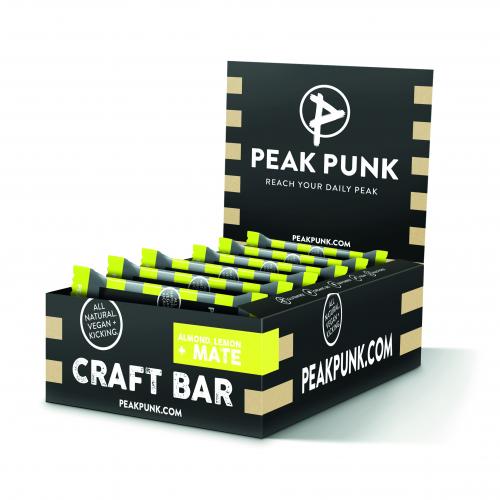 PEAK PUNK Craft Bar Almond Lemon 15x38g