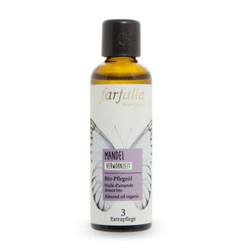 Bio-Mandelöl Flasche 75 ml/Glas Einweg - Farfalla