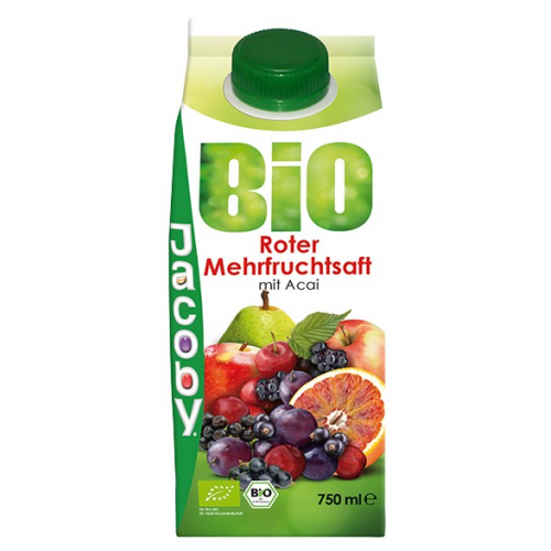 Jacoby Roter Mehrfrucht Saft  0.75l