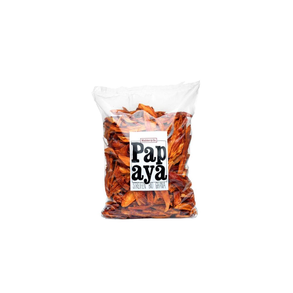 Bio Papayastreifen getrocknet Ghana